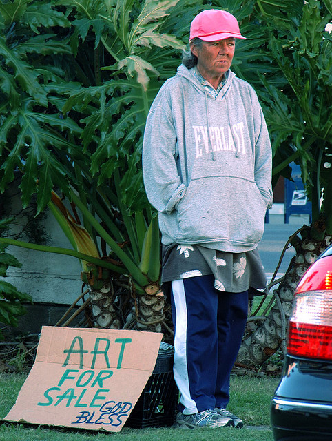 Homeless: Art for Sale